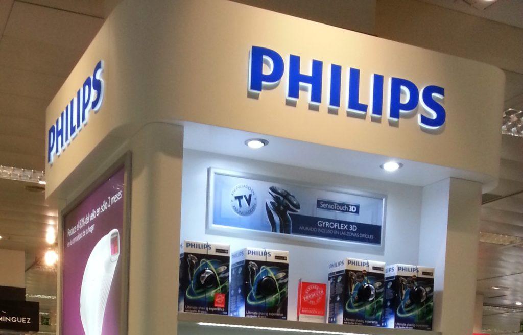 Expositor Phillips en tienda